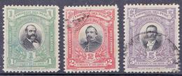 PERU - 1901- YT 127,128 & 129 - Mi.Nr.119,120 & 121 -  Sn Nr 161, 162 & 163- Used ° - Pérou