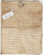 VP7824 - Cachet Généralité Ville De TOURS  - Acte De 1768 ? - Jean ..... à DOUCES Vente De Terres   ( DOUE LA FONTAINE ) - Seals Of Generality