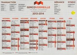 Calendrier Publicitaire 15x21 à Cheval Sur 2 Année GimcoVermeille (agence Immobilière) - Calendriers