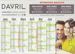 Calendrier Publicitaire 15x21 Davril (agence Immobilière) - Calendriers