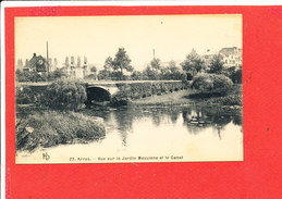 62 ARRAS Cpa Vue Sur Le Jardin MEAULENS Et Le Canal       27 KD - Arras