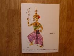 MENU MESSAGERIES MARITIMES - Menus