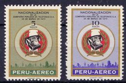 PERU - 1970 -YT Nr. 766 & 767  Mi.Nr. C288 & C289 -  NEW ** - Pérou