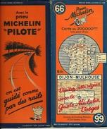 De 19? - EO - CARTE MICHELIN - DIJON-MULHOUSE - N° 66 - Avec Pub - Bon état - - Roadmaps