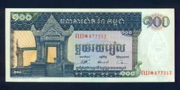 Banconota Cambogia 100 Riels 1963/72 - FDS - Cambodia