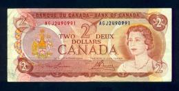 Banconota Canada 2 Dollari 1974 - Circolata - Canada