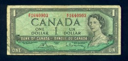 Banconota Canada 1 Dollaro 1954 - BB - Canada