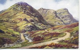 VALENTINES ART A2132 - THE THREE SISTERS, PASS OF GLENCOE - Argyllshire