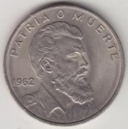 @Y@    Cuba   40 Centavos  1962       (4541) - Cuba