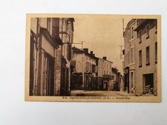 CPA 79 MAUZE-SUR-LE-MIGNON : Grande Rue,TSF Ondia, En 1947 - Mauze Sur Le Mignon