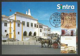 Portugal Carte Maximum Palais De La Ville Sintra Site UNESCO Palais Nationaux 2012 Palace Maxicard - Monumenti