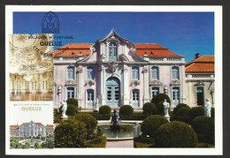 Portugal Carte Maximum Palais De Queluz Fontaine Palais Nationaux 2012 Queluz Palace Maxicard Fountain - Monuments