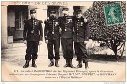 Militaria, Carte Légion Étrangère, Le SOLDAT Haberthur Du 1er Régiment Étranger Après La Décoration Des Braves 1911 - Militaria