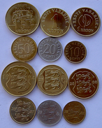 ESTONIA ESTLAND SERIE 6 MONETE 5-1-1 KROON 50-20-10SENTI FDC UNC - Estonia