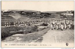 Militaria, Carte Légion Étrangère, Armée Coloniale , En Marche - Militaria