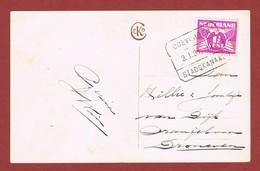 Treinstempel Coevoorden - Stadskanaal 3/1/1931 Op Kaart