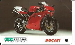Italia, Infostrada Sponsor Ufficiale, Ducati Corse Sette Volte Campione Del Mondo SBK, Valore Nominale 5.000 Lire. - Pubbliche Speciali O Commemorative