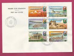 Lettre De Madagascar De 1976 - FDC - YT N° 580 à 583 Et PA 167 Et 168 - 75ème Anniversaire Zeppelin - Zeppelins