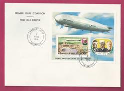 Lettre De Madagascar De 1976 - FDC - YT N° BF 11 - 75ème Anniversaire Zeppelin - Zeppelins