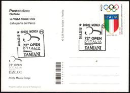 ITALIA MONZA 2015 - 72° OPEN D'ITALIA DI GOLF - OFFICIAL CARD - MARCO CRESPI