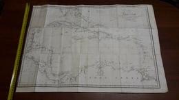Carte Des Cotes De TERRE - FERME Christophe Colomb. Avec Les Iles Antilles Et Lucayes - Carte Geographique