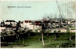 """ARINTHOD (39) PLACE De La GRENETTE. AU VERSO BEAU CACHET AMBULANT """" LONS-le-SAUNIER à  ARINTHOD """" - Altri Comuni"""