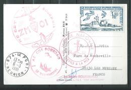A.E COMMANDANT BOURDAIS - ZMOI Sur Carte Postale - TàD LE PORT 06/03/81 - Marcophilie (Lettres)