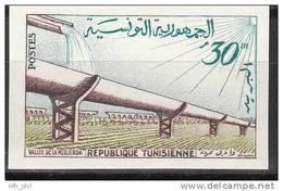 """TUNESIEN 531U """"Bewässerungsanlage Von Medjerdah"""" UNGEZÄHNT !!! MNH / ** / Postfrisch - Tunesien (1956-...)"""