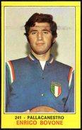 BASKETBALL - ITALIA - FIGURINA PANINI - I CAMPIONI DELLO SPORT 1970-71 - PALLACANESTRO: ENRICO BOVONE - ITALIA - Altri