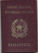 ITALIA - UNIONE EUROPEA PASSPORT - PASSEPORT - Model PRE BIOMETRIC - Issued In Buenos Aires Consulate - Never USED - Documentos Históricos