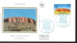FRANCE  FDC  1996 Unesco Parc Uluru Australie