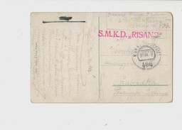 Kriegsmarine, S.M.K.D. Risano, Zensuriert, Feldpostamt 406, 1917. *** RARE - 1850-1918 Empire