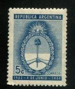 426519939 ARGENTINIE DB 1944 POSTFRIS MINTNEVER HINGED POSTFRISH EINWANDFREI NEUF YVERT 442 - Argentine