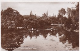 Old Photograph, The Lake, Queens Park, Chesterfield (pk33265) - England