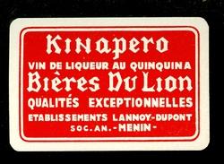 Speelkaart ( 0132 ) 1 Losse Kaart - Publicité Reclame  Bier Bière Brasserie Brouwerij - Menin  Meenen  Menen - Barajas De Naipe