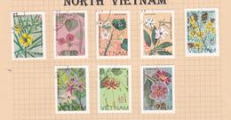 Vietnam 155-162 1977 Wildflowers Used Set - Viêt-Nam