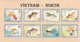 Vietnam 172-179 1977 Fishes Used Set - Viêt-Nam
