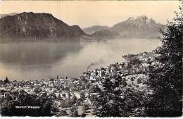 SUISSE Swiss Switzerland ( LU ) LUCERNE -  Weggis Am Vierwaldstättersee Mit Bürgenstock U.Pilatus - CPSM PF 1961 - LU Luzern