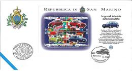 SAINT-MARIN - ENVELOPPE 1er JOUR - FDC - AUTOMOBILES VOLKSWAGEN - 1997 - FDC