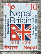 BRITAIN NEPAL RELATIONS BICENTENNIAL STAMP NEPAL 2016 MINT/MNH