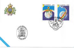 SAINT-MARIN - ENVELOPPE 1er JOUR - FDC - JOURNEE Des MALADES - 1998 - FDC