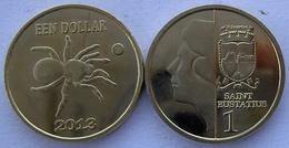 ANTILLE OLANDESI SAINT EUSTATIUS 2013 1 $ RAGNO  NON CIRCOLABILE - Antille Olandesi