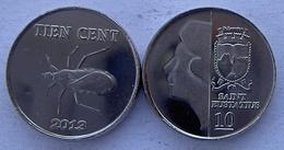 ANTILLE OLANDESI SAINT EUSTATIUS 2013 10 CENT COLEOTTERO NON CIRCOLABILE - Antille Olandesi