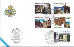 SAINT-MARIN - ENVELOPPE 1er JOUR - FDC - ARCHITECTURE De MONTEFELTRO  - 1999 - FDC