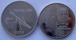 ANTILLE OLANDESI SAINT EUSTATIUS 2013 50 CENT MANTIDE RELIGIOSA NON CIRCOLABILE - Antille Olandesi