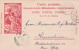 "Suisse : Carte Postale 1900 ""Jubilé De L'union Postale Universelle"" / Adelboden => Kaiserslautern - Stamped Stationery"