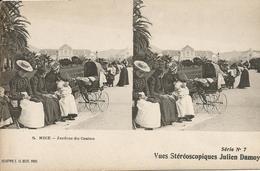 NICE  /  Nounous  Dans  Les  Jardins  Du  Casino  /  Carte  Stéréoscopique  Julien  Damoy  /  ELD - Cartes Stéréoscopiques