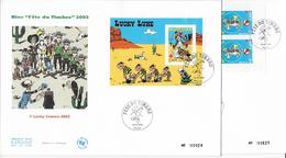 "Enveloppes  1er Jour FDC .2003  2 Enveloppes ""bloc Fête Du Timbre"" - 2000-2009"