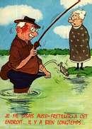 Carte Postale  Humour - Illustration Alexandre - Editions Lyna 830  3 -  Série Pêche  - Frétiller à C Et Endroit.... - Humour