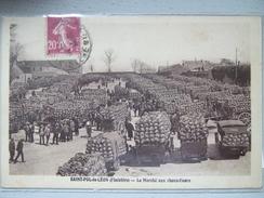 SAINT POL DE LEON / LE MARCHE AUX CHOUX FLEURS / TRES JOLIE CPA  ANMEE / 1915 - Markets